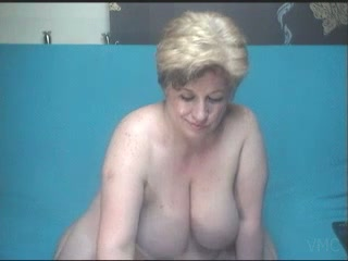 Huge boobed granny playing with her vagina in solo video