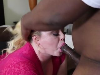 Fat mature fucked and gets facial Interracial