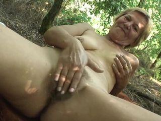 Hungarian Granny hot POV sex outdoor