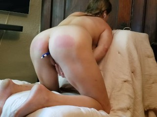 Submissive Blonde Follows Instruction Well Showing Off Asshole Muscle Control And Spanking Herself