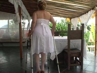 brazilian granny butt fucking - interracial sex