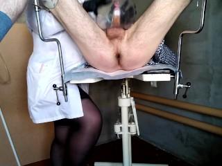 Medical Fetish - Nurse and Condom Vagina (Patient Cumshot)