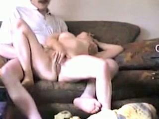 Mature neighbour sucking hard shaft in amateur video