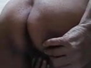 Indian granny spreading pussy and ass