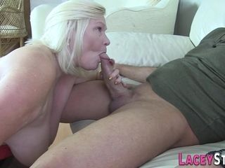 Busty granny gets plowed and blowing