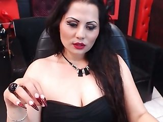 Big boobs amateur mom smoking a cigarette while we webcam