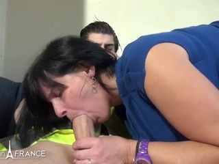 french mature lady and her young sexmate