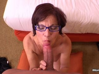Chubby GILF in glasses hot amateur POV video