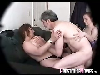 It was hot watching this young slut make love to his cock with her mouth
