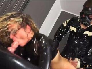 Real German MILF Assfucking BDSM Latex 3Some Orgy