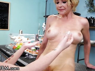 My New Boss Kit Mercer Welcomed Me By Spanking My Wet Pussy