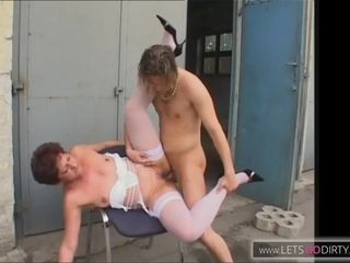 Red haired MILF s Outdoor Fuck Session