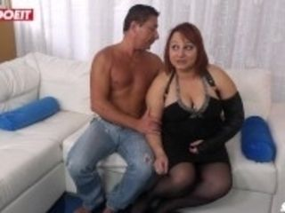"""LETSDOEIT - Romanian Chubby Milf Ass Drilled By Italian Stud"""