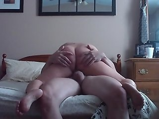 Big bottomed slutty and voracious brunette wife of mine is a great cock rider