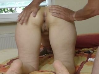 Just ordinary pale wife gets her big ass massaged by her hubby