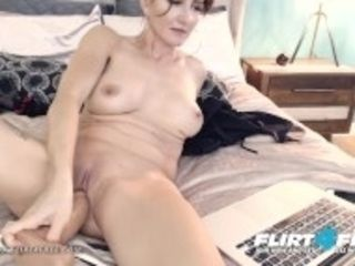 """Mika Cox on Flirt4Free - spectacular milf stunner w ginormous bumpers Makes Her labia Squirt"""