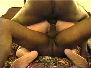 Ash-blonde wifey in hotel with 2 ginormous dark-hued weenies