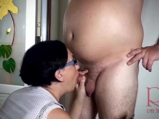 SEXRETARY. Secretary gives headmaster blowjob in the school toilet.