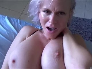 Sexually frustrated son needs a helping hand from large-breasted MILF
