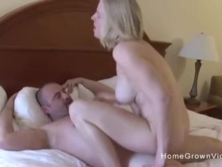 Massive orb unexperienced blond wifey porks her hubby