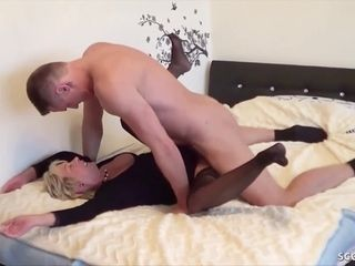 GERMAN STEP stepson CAUGHT mummy fap and help with ravage