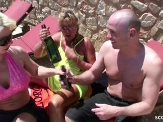German mother And auntie bang With Coed dude In FFM threeway fucky-fucky