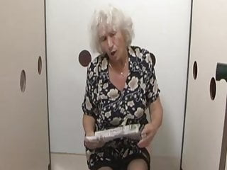 Grandmother Norma gets a surprise at the gloryhole