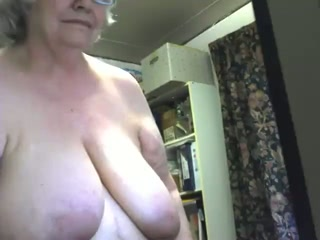 Crazy webcam solo with a fat granny toying her meaty twat