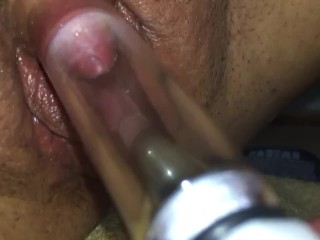 Playing with new clit pump!