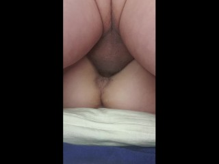 Mature Granny MILF creampie, then masturbates, anal play almost squirts then pissing