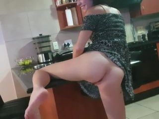 'Sexy dirty slut smoking cigarette and showing off her pussy and ass upskirt'