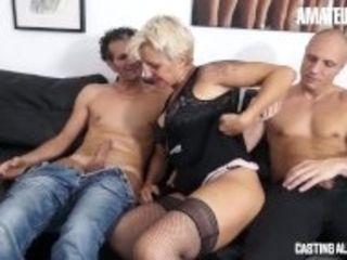 """CastingAllaItaliana - Big Tits Italian Mature Hardcore Double Penetration Swinger Threesome"""