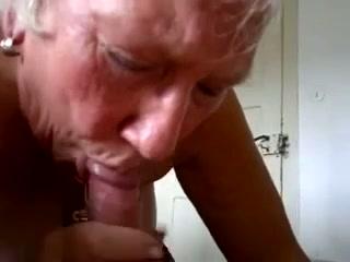 Chubby wrinkled grey haired nextdoor oldie sucks my dick