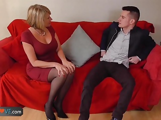 AgedLove scrupulous fair-haired granny is fucked wits lickerish guy