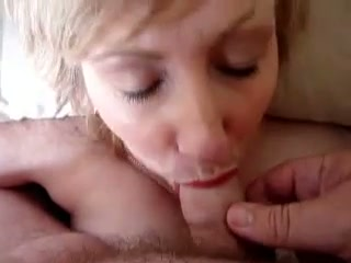 Fabulous mature blond haired lady wanted to be fed with gooey sperm
