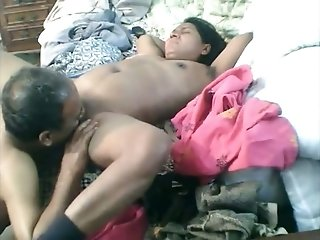 Dude eats his mature Pakistani and fucks her on cam