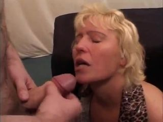 Hardcore bukkake with couple of filthy matures