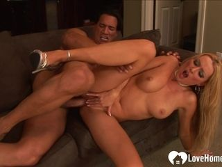 Ash-blonde Hair woman mommy with XXL orbs gets had fuck-a-thon
