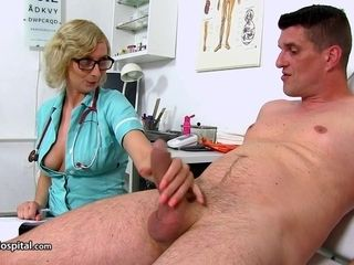 Mummy Nurse Give Her Patient A lovely Ha - heavy-breasted