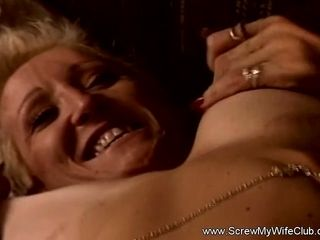 Ash-blonde wifey Swinger is worth a milky monstrous sausage in Her snatch