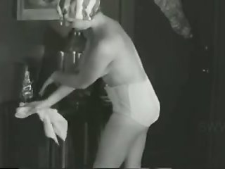Vintage video featuring yummy and super sexy housewife in XL pants