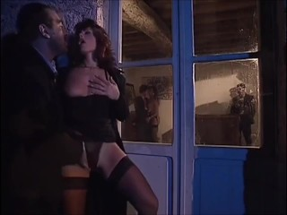 ORGY VINTAGE ANAL milfs fucking 3some sucking and swallowing cum, FFM blowjob cum mouth assfuck anal
