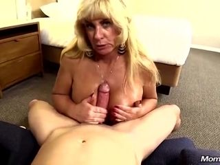 Big Titted Pump Housewife Blond Hair Lady POV