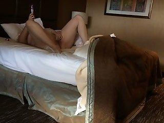 Ex-wife of my neighbor was caught on hidden cam while masturbating