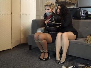 bondage 1331 - lesbians milf in office