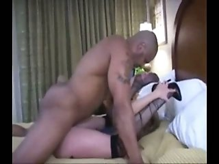 Flexible milf white wife and big black guy ramming her