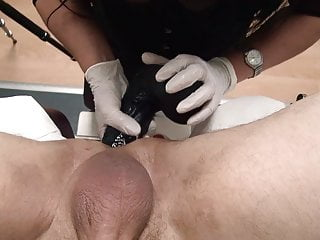 Massive belt dick, going knuckle deep, domina, gynecology polyclinic