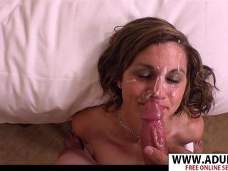 Super-naughty mom Gets thick facial cumshot
