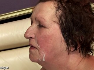 Granny cumshot facial compilation part 1