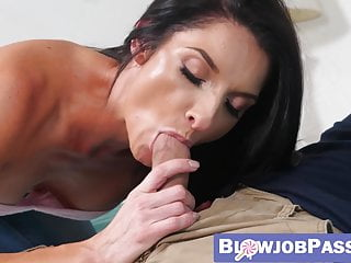 Sumptuous cougar Silvia Saige point of view gargling son-in-law man-meat